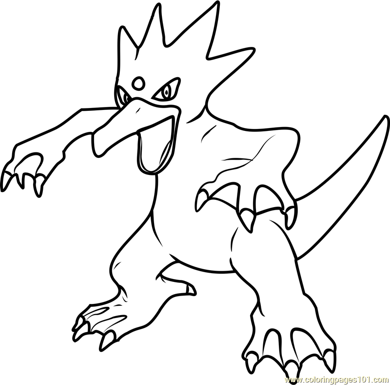 Golduck Pokemon Coloring Page