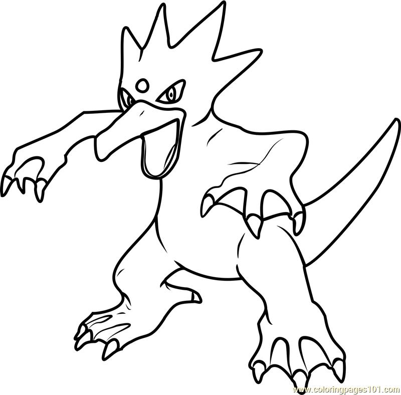 Golduck Pokemon Coloring Page - Free Pokémon Coloring ...