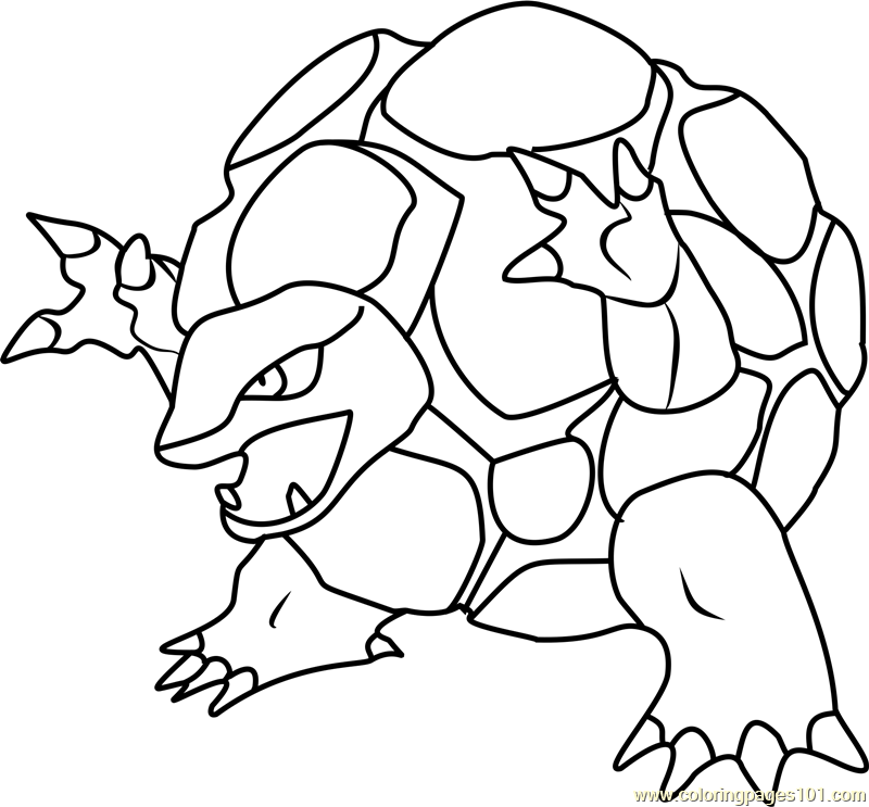 Golem Pokemon Coloring Page Free Pok mon Coloring Pages