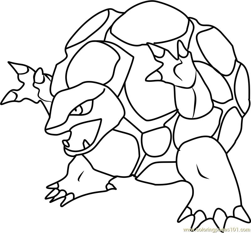 Golem Pokemon Coloring Page