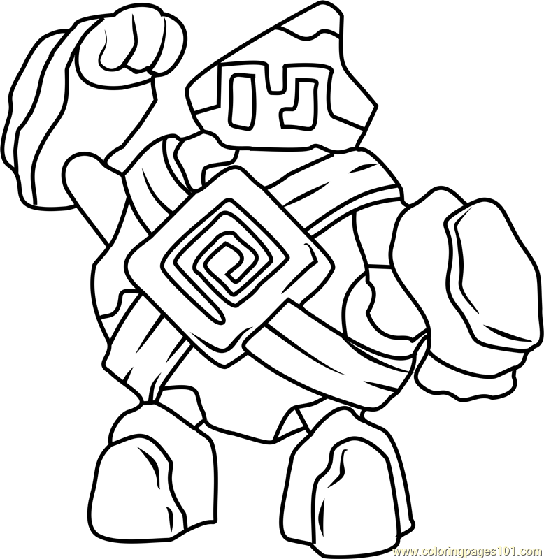 Golett Pokemon Coloring Page