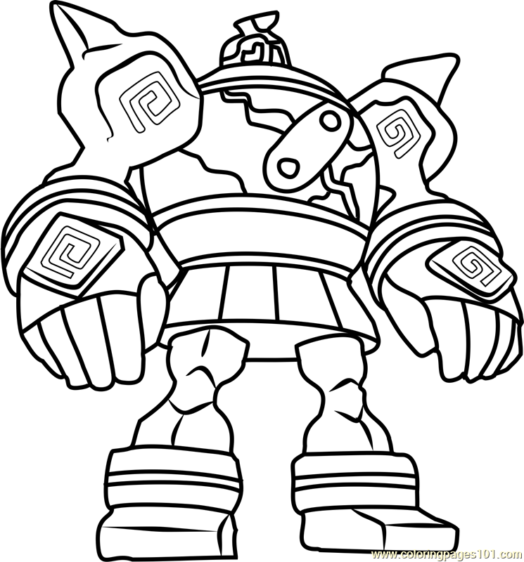 Golurk Pokemon Coloring Page Free Pokmon Coloring Pages