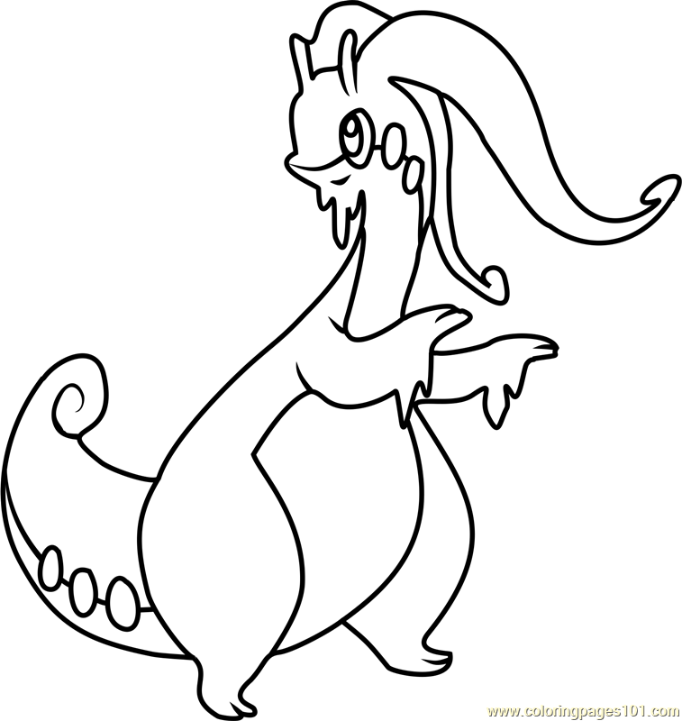 Goodra Pokemon Coloring Page Free Pok 233 Mon Coloring Pages