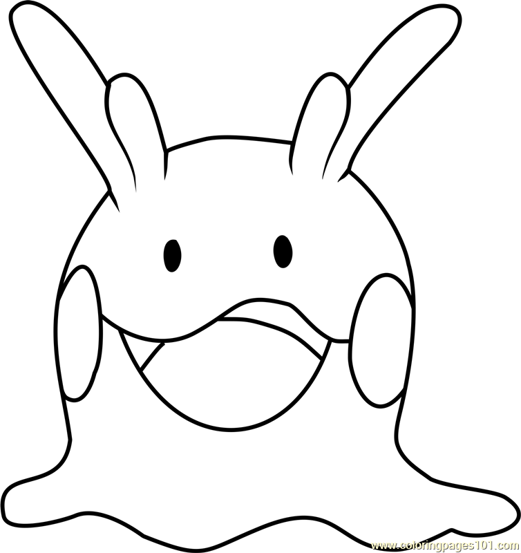 Goomy Pokemon Coloring Page Free