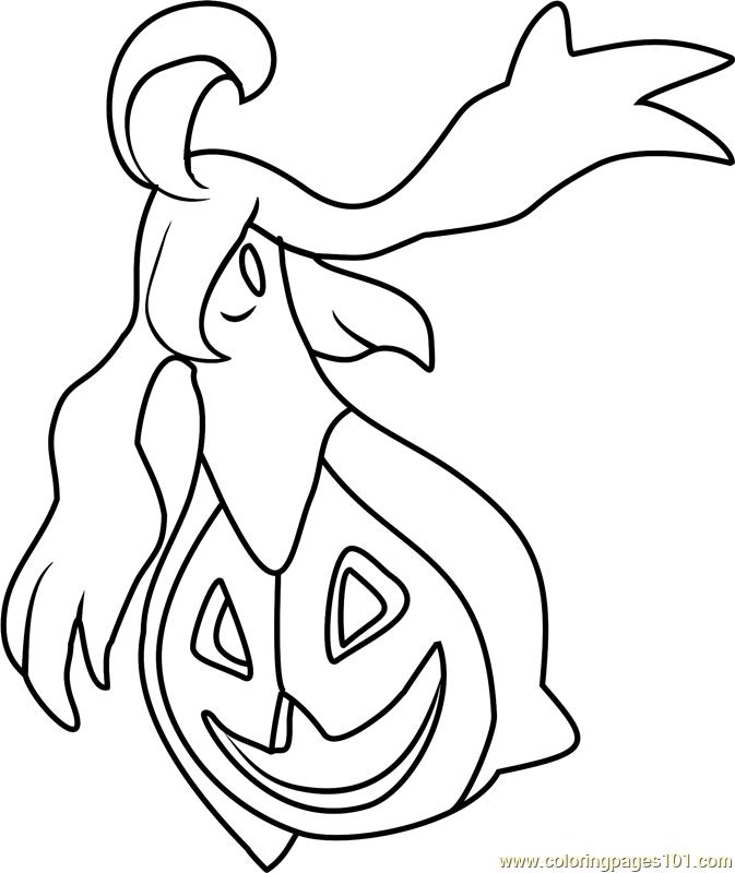Gourgeist Pokemon Coloring Page Free Pok 233 Mon Coloring