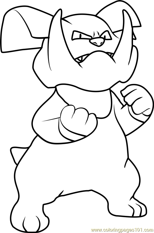 Granbull Pokemon Coloring Page
