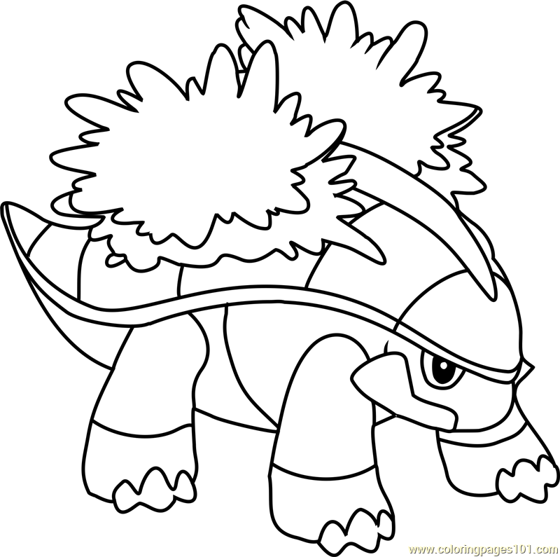 Grotle Pokemon Coloring Page - Free Pokémon Coloring Pages ...