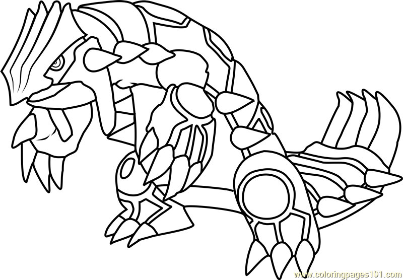Groudon Pokemon Coloring Page Free Pokmon Coloring Pages