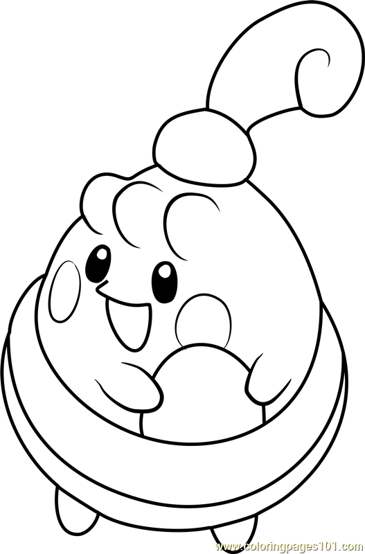 Happiny Pokemon Coloring Page Free Pok 233 Mon Coloring