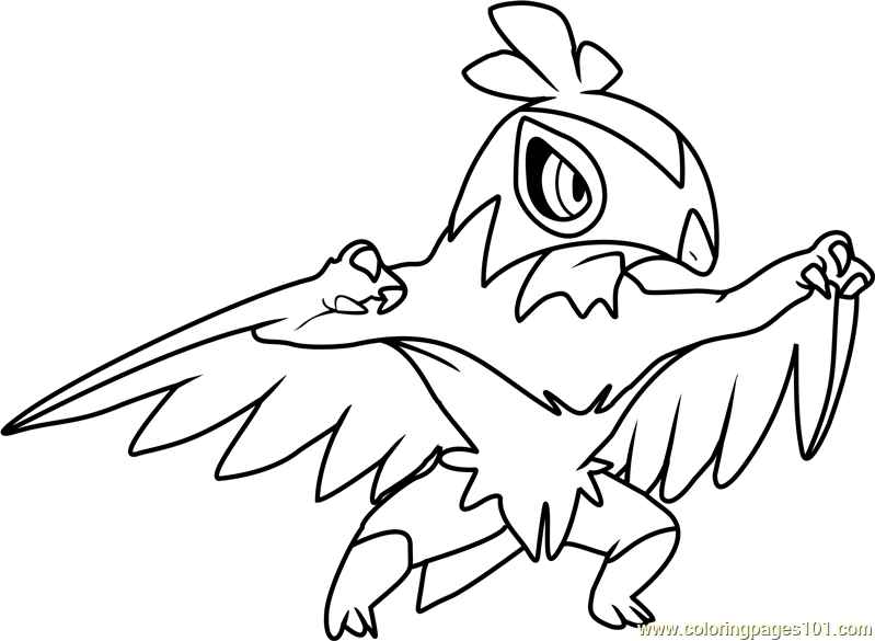 Hawlucha Pokemon Coloring Page Free Pokmon Coloring Pages