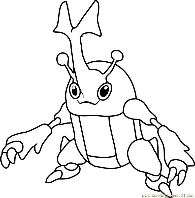 Heracross Pokemon Coloring Page