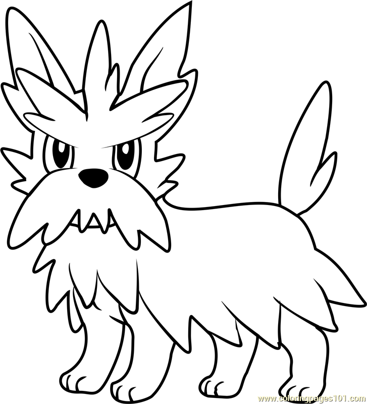 Herdier Pokemon Coloring Page