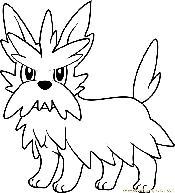 Herdier Pokemon Coloring Page