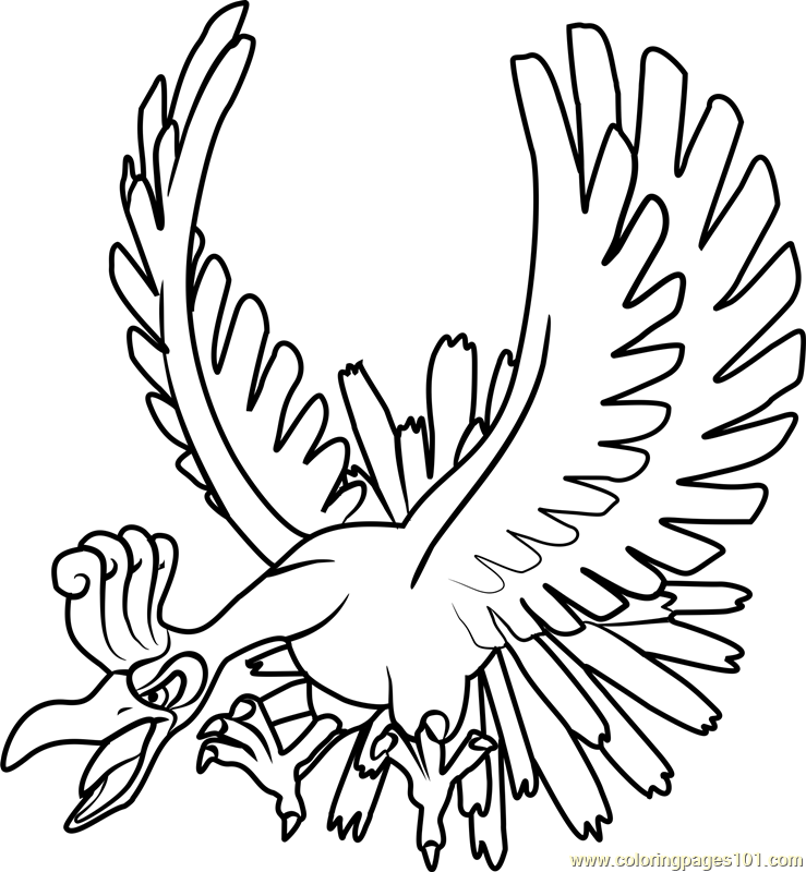 Ho-Oh Pokemon Coloring Page - Free Pokémon Coloring Pages ...