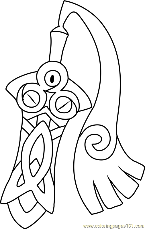 Honedge Pokemon Coloring Page