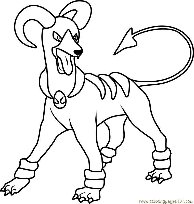 Houndoom Pokemon Coloring Page