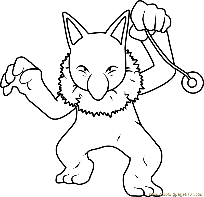 Hypno Pokemon Coloring Page Free Pok 233 Mon Coloring Pages