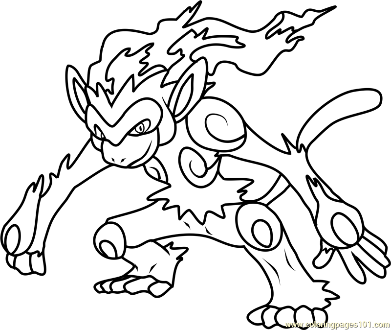 infernape pokemon coloring page - 123 Coloring Pages