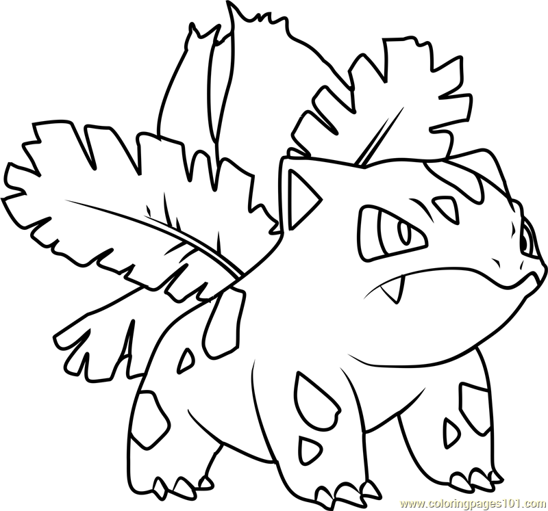 ivysaur pokemon coloring page - Coloring Pages 101