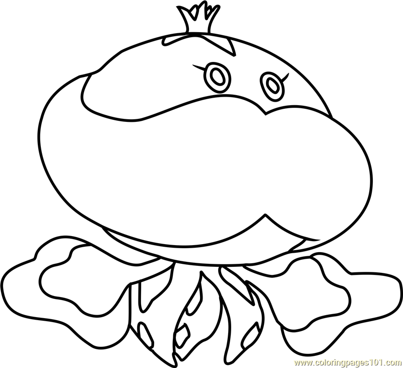 Jellicent Pokemon Coloring Page