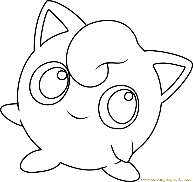Jigglypuff pokemon coloring page free pok mon coloring for Jigglypuff coloring page