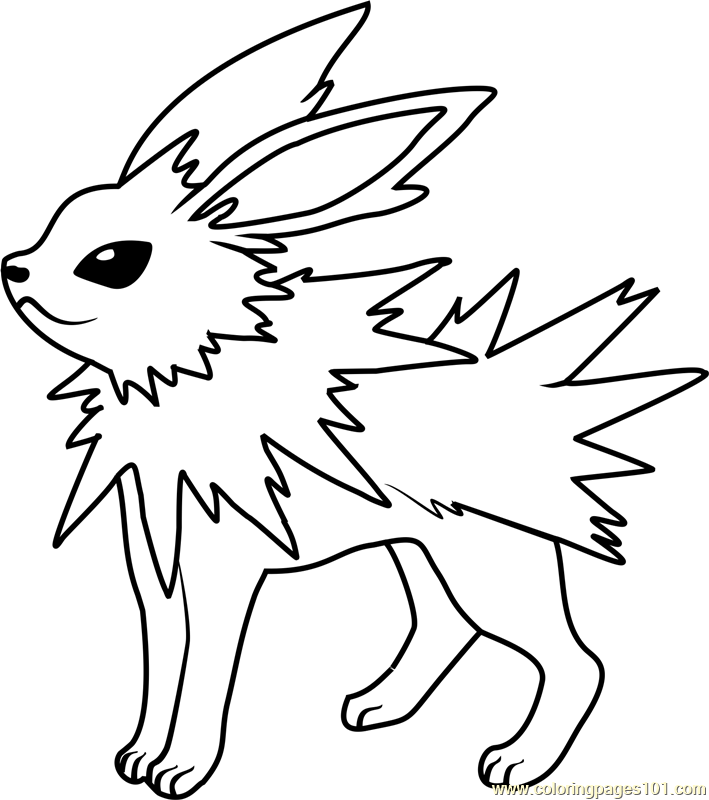 Jolteon Pokemon Coloring Page - Free Pokémon Coloring Pages ...