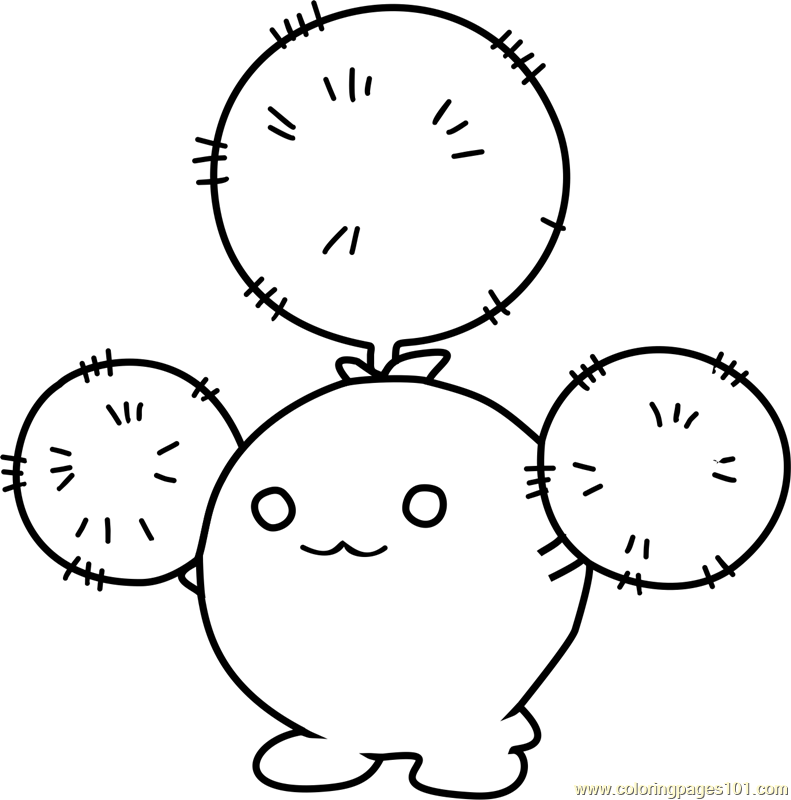 Jumpluff Pokemon Coloring Page