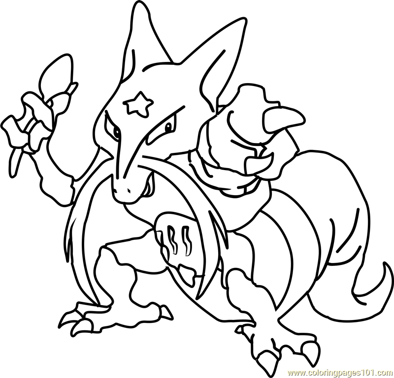 Kadabra Pokemon Coloring Page