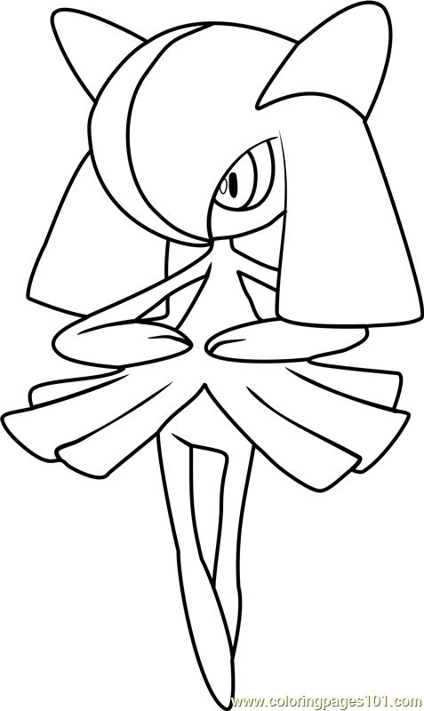 Kirlia Pokemon Coloring Page