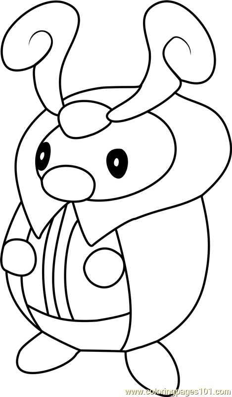 Kricketot Pokemon Coloring Page Free Pok mon Coloring