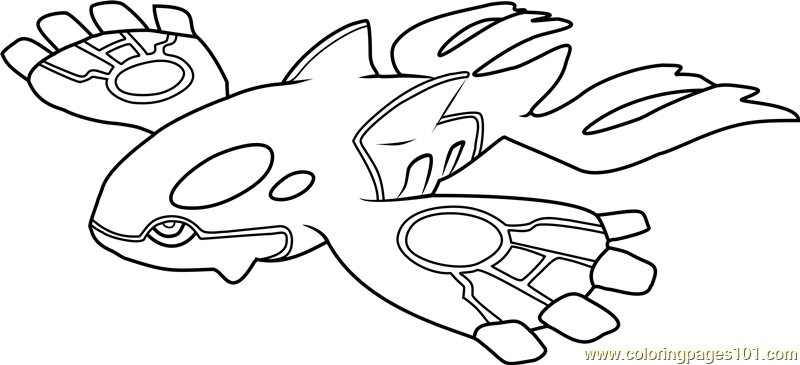 Kyogre Pokemon Coloring Page Free Pokmon Coloring Pages