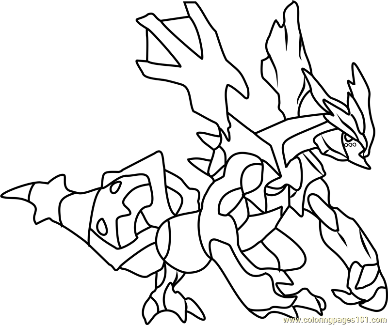 Kyurem Pokemon Coloring Page Free Pokmon Coloring Pages