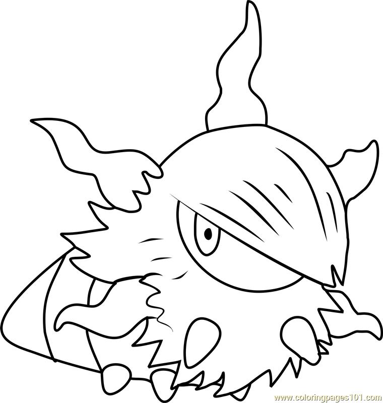 Larvesta Pokemon Coloring Page