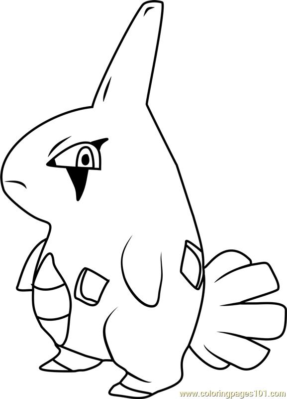 Larvitar Pokemon Coloring Page Free Pok mon Coloring