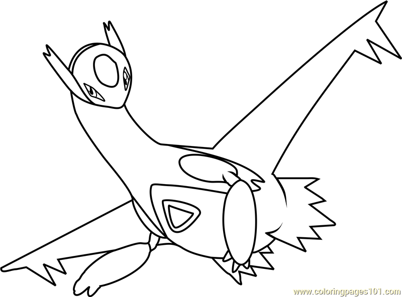 latios pokemon coloring page