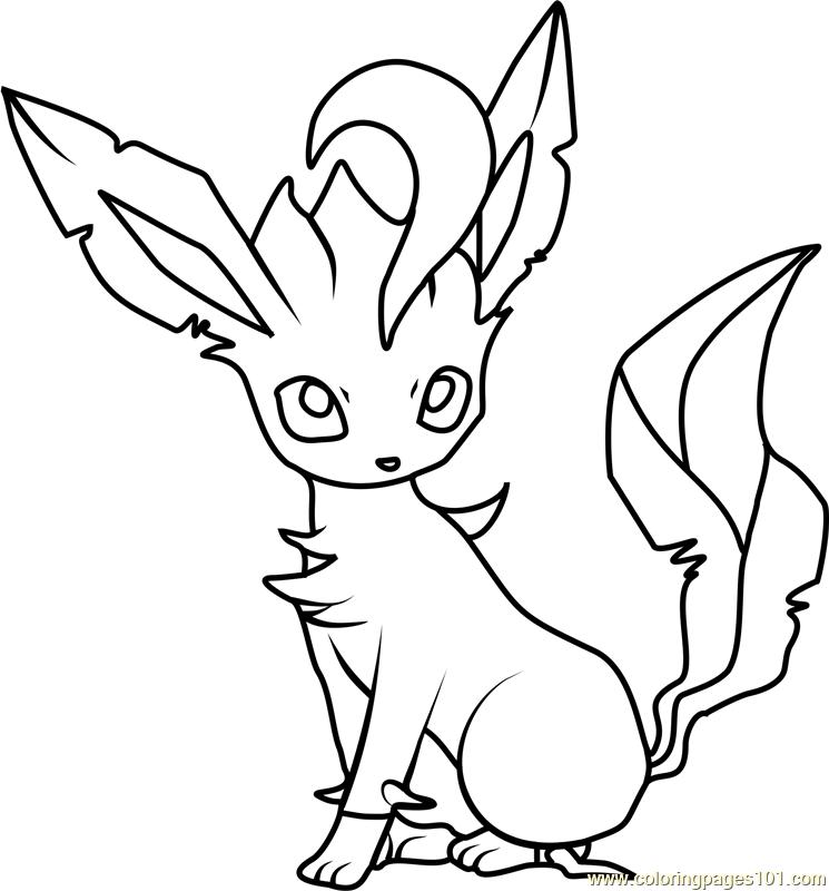 Leafeon Pokemon Coloring Page