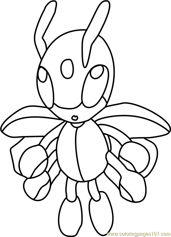 Ledian Pokemon Coloring Page