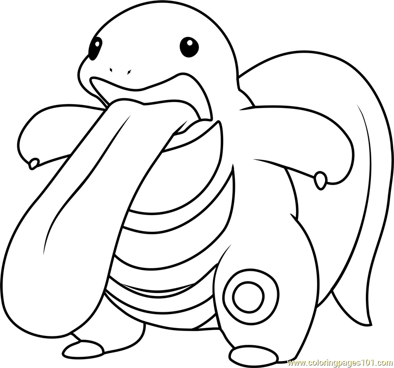 Lickitung Pokemon Coloring Page Free Pokemon Coloring Pages