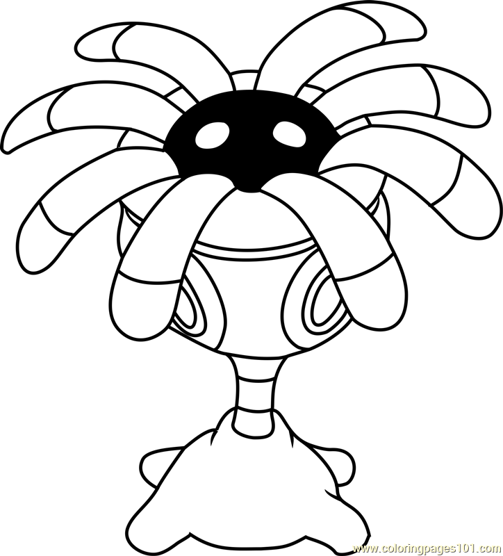 Lileep Pokemon Coloring Page Free Pok 233 Mon Coloring Pages
