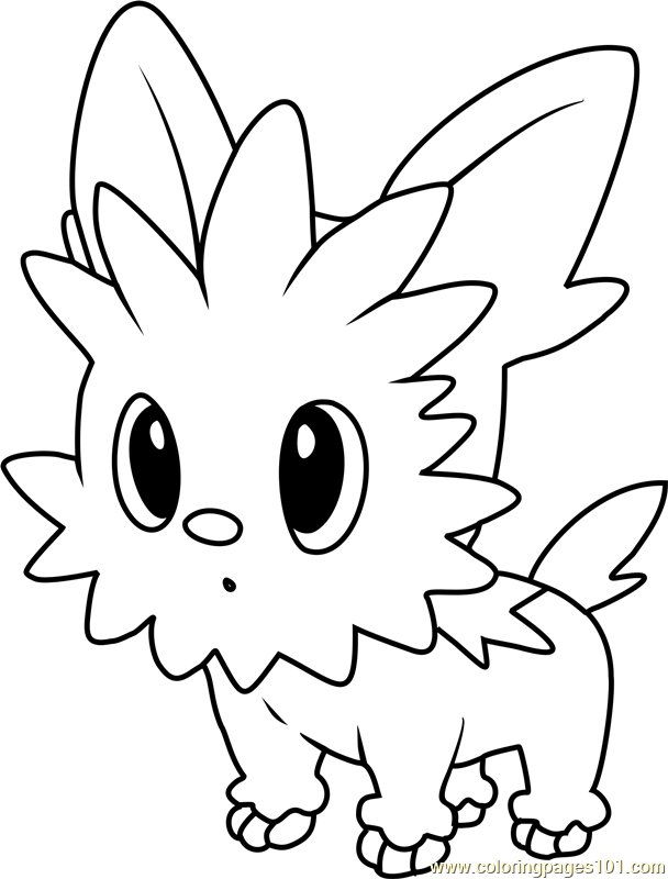 Lillipup Pokemon Coloring Page Free Pok 233 Mon Coloring
