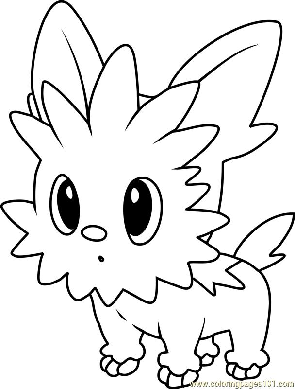 Lillipup Pokemon Coloring Page Free Pok 233 Mon Coloring