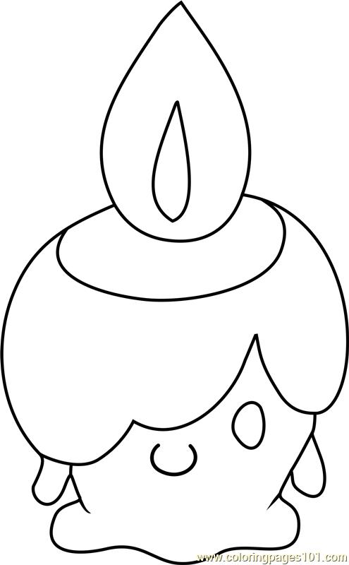 Litwick Pokemon Coloring Page Free Pok 233 Mon Coloring