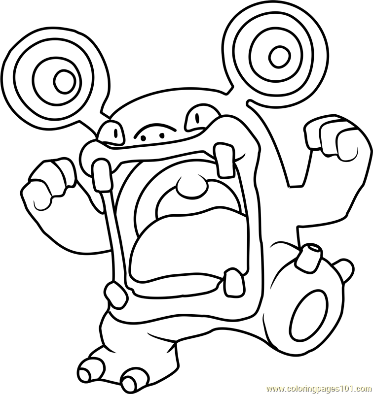 Loudred Pokemon Coloring Page