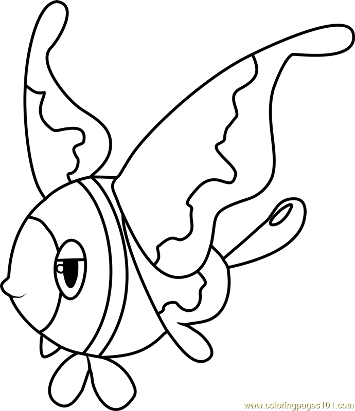 Lumineon Pokemon Coloring Page Free Pok 233 Mon Coloring
