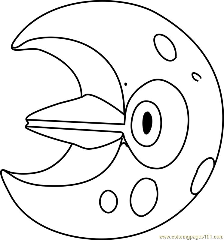 Lunatone Pokemon Coloring Page Free Pok 233 Mon Coloring