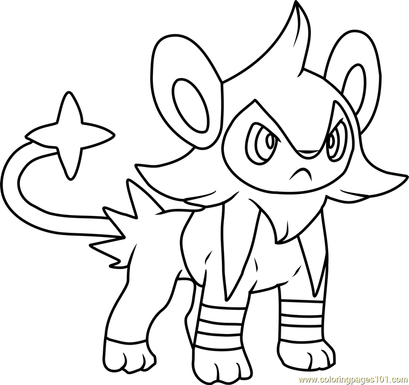 Luxio Pokemon Coloring Page - Free Pokémon Coloring Pages