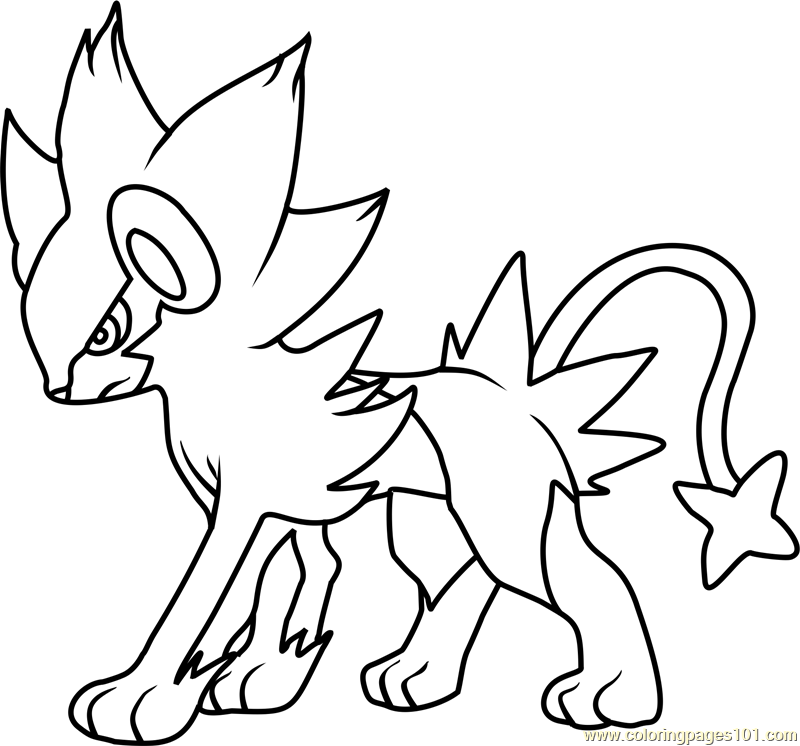 Luxray Pokemon Coloring Page Free Pok 233 Mon Coloring Pages