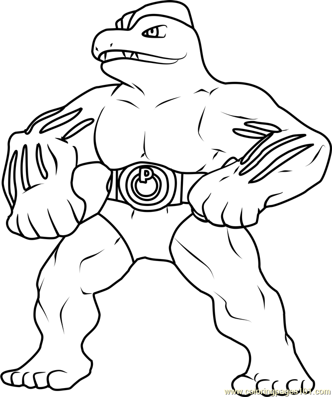machamp pokemon coloring pages - photo#34