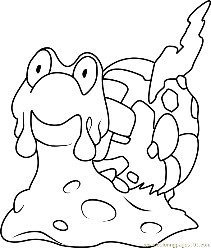Magcargo Pokemon Coloring Page