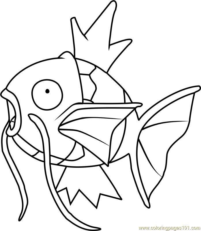 Magikarp Pokemon Coloring Page